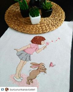 Belle and boo cross stitch