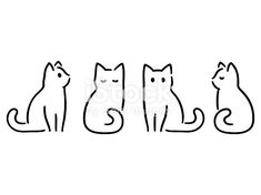 Drawing set of minimalist cats. Doodles in abstract hand-drawn … – Katzen Ide… – Katzenbilder Drawing set of minimalist cats. Doodles in abstract hand-drawn … – Katzen Ide… Drawing set of minimalist cats. Doodles in abstract hand-drawn … – Katzen Ideen – Gato Doodle, Doodle Drawings, Cute Drawings, Simple Doodles Drawings, Simple Animal Drawings, Quick Easy Drawings, Easy Designs To Draw, Doodle Art Simple, Tattoo Drawings