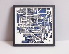 Boulder CO Laser Cut Map With Minimal by CollectedEdition on Etsy, $70.00