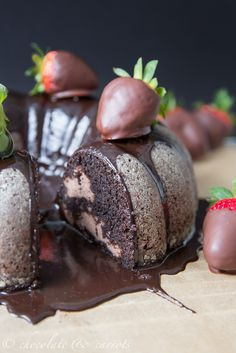 Chocolate Covered Strawberry Bundt Cake