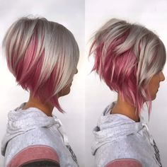 Sparkling Rose and Silver Bob   Behindthechair.com