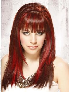 Crimson Collage Highlighted Hair in Shades of Red