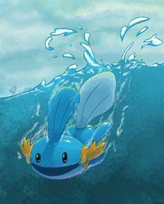 Mudkip by ColdBed on DeviantArt Pokemon Agua, All Pokemon, Pokemon Team, Pokemon Universe, Mudkip, Pokemon Collection, Original Pokemon, Pokemon Special, Pretty And Cute
