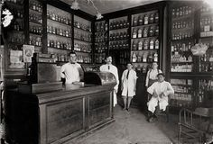 1922 , Argentina Interior of the Scavarda pharmacy located in Esperanza, Santa Fe, with its employees posing for the photographer. https://www.facebook.com/VintagePharmacy/posts/1702993383356096:0https://www.facebook.com/VintagePharmacy/posts/1702993383356096:0