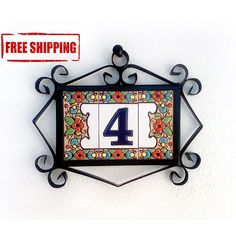 House numbers and letters Enamel number tile Modern address Etsy