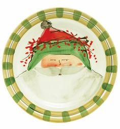 VIETRI - Old St. Nick Green Hat Dinner Plate-Hillsborough, NC