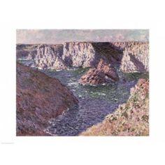 The Rocks of Belle Ile 1886 Canvas Art - Claude Monet (24 x 18)