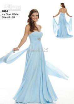 Wholesale Wedding Dress - Buy Ice Blue Simple Wedding Dress Strapless Floor Length Cocktail Dresses Satin Sheath Prom Dress, $95.45 | DHgate