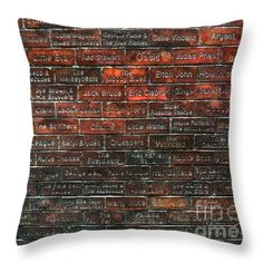The Wall of Fame Liverpool Throw Pillow by Joan-Violet Stretch