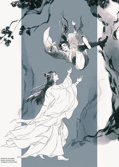 anime: the grandmaster of demonic cultivation The Grandmaster, Cute Gay, I Love Anime, Magical Girl, Chinese Art, Webtoon, Fantasy Art, Anime Art, Fan Art