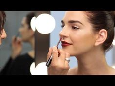 How To Wear Red Lips: Dramatic Lacquered Lip - YouTube
