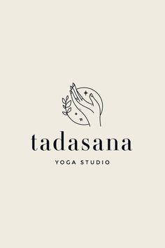 package pre-made branding package: Tadasana brand . - Pre-made branding package: Tadasana brand board, brand desig - Logo Inspiration, Yoga Logo, Studio Logo, Studio Design, Hand Logo, Logo Design Tipps, Logo Branding, Branding Template, Branding Ideas