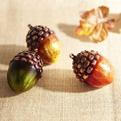 Handcrafted from capiz, our exclusive acorn set is a shining example of fall flourishing in your home. Incorporate them into a centerpiece or atop a mantel or shelf for a fresh harvest of decor.
