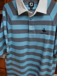 FOOTJOY FJ Polo Golf Shirt Mens XL EXTRA LARGE Legend Trail S/S PGA Stripe #FootJoy #PoloRugby