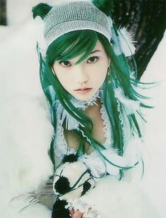 Moon Kana...I really love green first girl I've seen that can pull it of and look beautiful!!