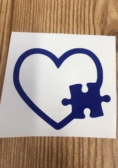 Autism Puzzle Piece Heart Vinyl Decal Sticker // Light It Up Blue for Autism Speaks // Autism Awareness // Car Decal // Tumbler sticker by TaylorMadeTreasureUS on Etsy Yeti Stickers, Tumbler Stickers, Printable Stickers, Laptop Stickers, Puzzle Pieces, Car Decals, Vinyl Decals, Maori, Tatoo