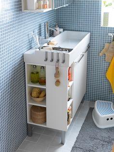 trendy ideas for bath room ikea lillangen powder rooms Ikea Laundry Room, Ikea Bathroom, Downstairs Bathroom, Bathroom Renos, Laundry In Bathroom, Bathroom Storage, Small Bathroom, Bathroom Ideas, Compact Bathroom