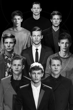 A Season of Tim. From trashyprinces.      Tim Schuhmacher on the runway at Kris Van Assche, Hermès, Prada, Valentino, Dior Homme and Woo Young Mi SS14.