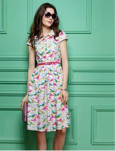 Tweet Tweet Fun Retro Vintage Style 1940s Fashion Dress