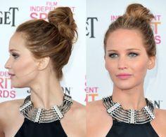 Maquillaje y peinado de fiesta: insírate en los mejores looks de alfombra roja de Jennifer Lawrence