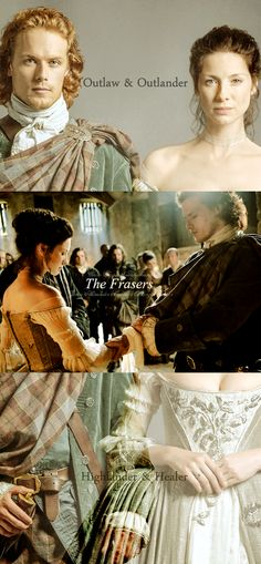 Outlander wedding. Jamie Fraser and Claire Fraser. Source: hearts-knows-no-shame