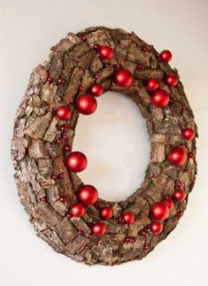 tree bark christmas wreath natural christmas decor ideas