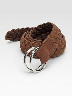 Brunello Cucinelli | Braided Leather D Ring Belt
