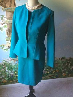 Anne Klein Petite  Women's Teal Green Dress