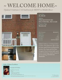 Updated Rental in Middle River!!!