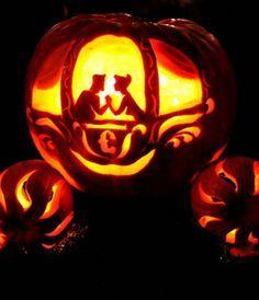 cinderella carriage pumpkin carving pattern - Google Search