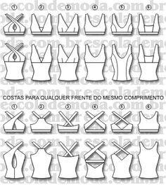 Moldes de tops para moda fitness