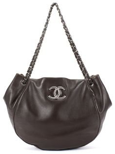 e1db6255bd2a CHANEL Authentic Brown Lambskin Leather Sensual Shopping Tote Hobo Shoulder  Bag $960.0