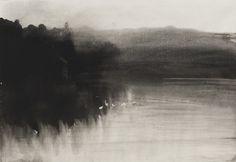 Ellen Phelan, Sunset from Loon Lake: Eleven Drawings, gouache on paper, 1983