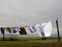 Kansas clothesline. No clothes will ever smell as fresh as those we took off the line, in central Kansas, back in the 50s.