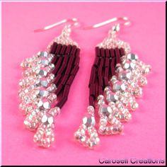 Ripples Delight Beaded Chandiler Earrings