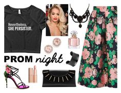 """Persisting at Prom"" by wearyourdissent ❤ liked on Polyvore featuring Topshop, Dolce&Gabbana, Gucci, Diane Von Furstenberg, Dana Rebecca Designs, Guerlain, ShePersisted and NeverthelessShePersisted"