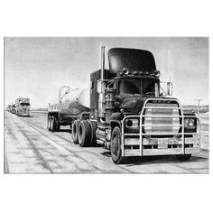 Mack Trucks, Big Rig Trucks, Semi Trucks, Custom Big Rigs, Custom Trucks, Truck Tattoo, Model Truck Kits, Truck Transport, Truck Art