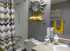bathroom diy bathroom remodel bathroom decor yellow and gray grey