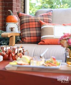 Fall Porch Decorating Ideas / Fall Entertaining-Around-My-House Tour…