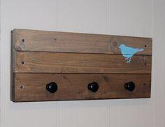 reclaimed wood coat rack.