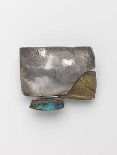 Sketch in Metal, 1969, Mary Kretsinger, Silver, brass, opal; forged, cast, assembled