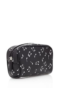 Metallic Musical Note Cosmetic Pouch | FOREVER 21 - 1000082475