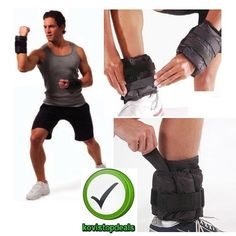 Ankle Weights Set of 2 Adjustable & Arm Leg Wrist Box Running  Pair of 20 lb New #CAPBarbell