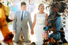 Riviera Maya Wedding Barcelo Maya Colonial, Mayan ceremony on the beach. Stunning!  Mexico wedding photographers Del Sol Photography