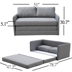 Modern style and versatile design highlight this adjustable fabric loveseat and sofa bed. This multi-functional sofa bed allows you to maximize available space and make the most out of your home.