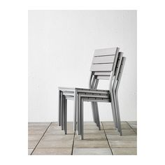 FALSTER Chair IKEA Can be stacked, which helps you save space. Polystyrene slats are weather-resistant and easy to care for.