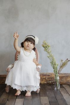 てんとん写真館 Girls Dresses, Flower Girl Dresses, Wedding Dresses, Flowers, Fashion, Dresses Of Girls, Bride Dresses, Moda, Bridal Gowns