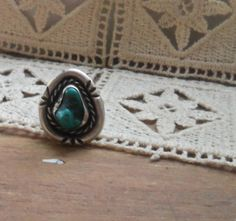 Vintage Native American Raw Turquoise and by bettyrayvintage
