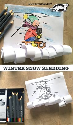 children activities, more than 2000 coloring pages Winter Art Projects, Winter Project, Winter Crafts For Kids, Winter Kids, Projects For Kids, Winter Snow, Christmas Activities For Toddlers, Winter Activities, Children Activities