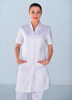blouse esthetique blanche